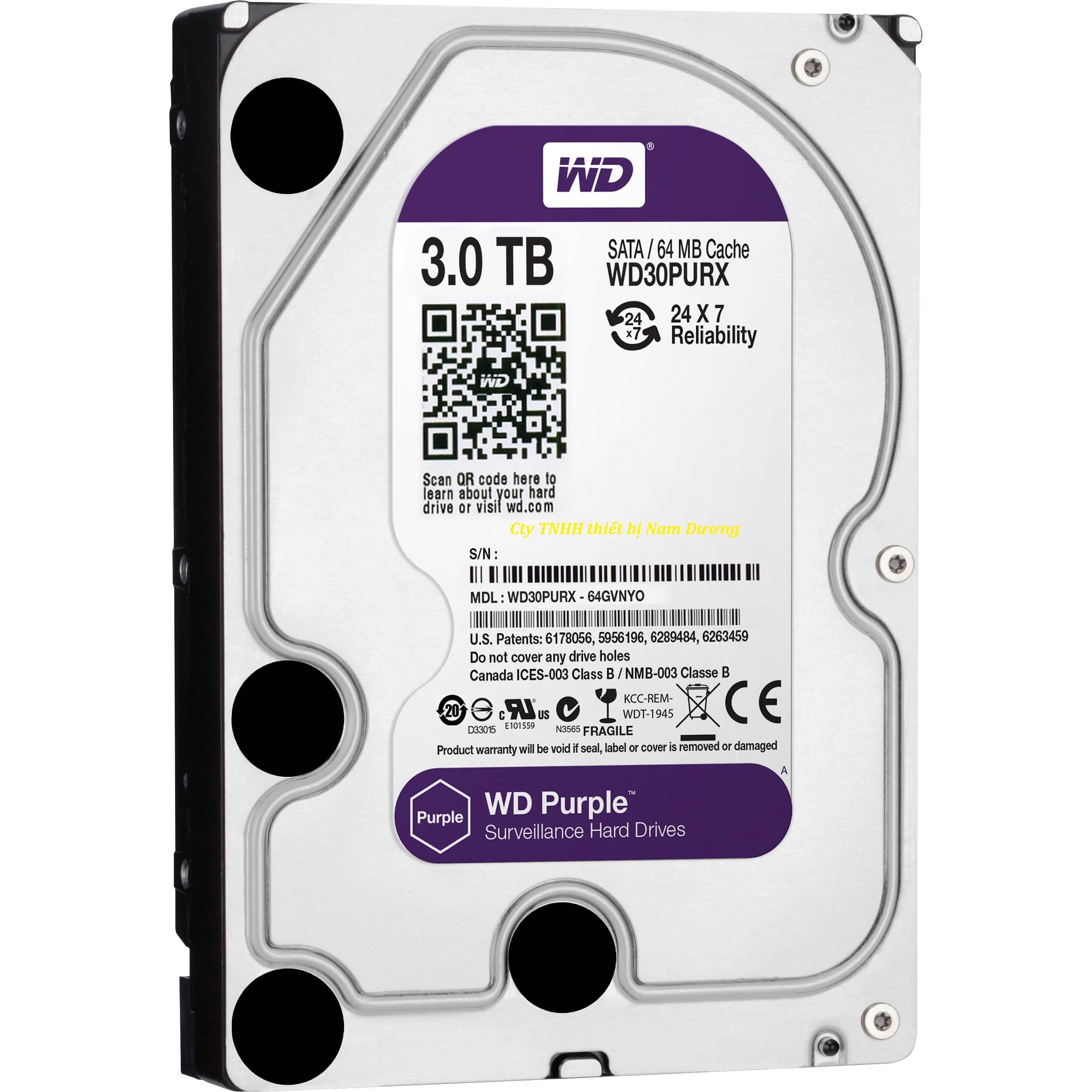 Ổ cứng gắn trong Western Purple 3TB